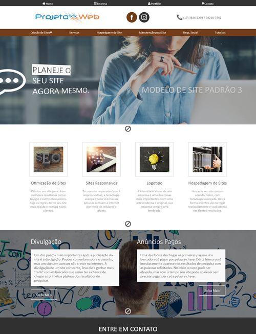 Site Simples Prontos Padrão Bonitos