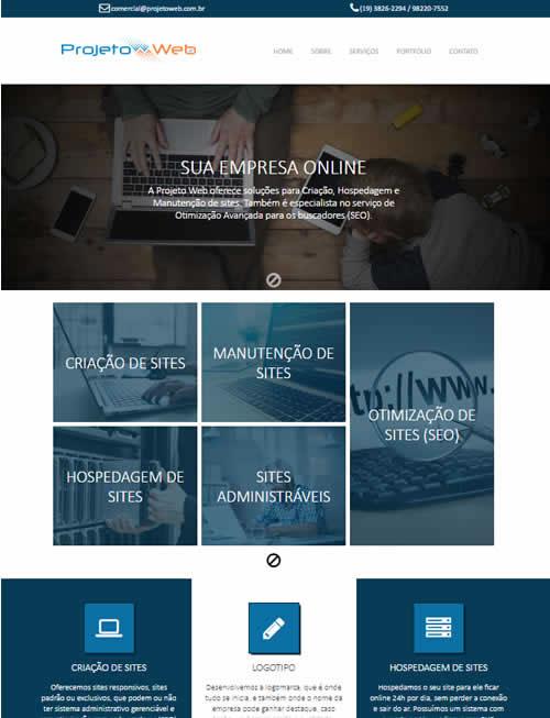 Sites Simples Prontos Padrão Modernos