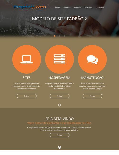 Sites Simples Prontos Padrão