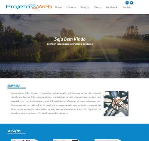Modelo De Site de uma Página Em Vinhedo, São Paulo – SP