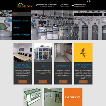Site Empresarial Moderno em Vinhedo - SP