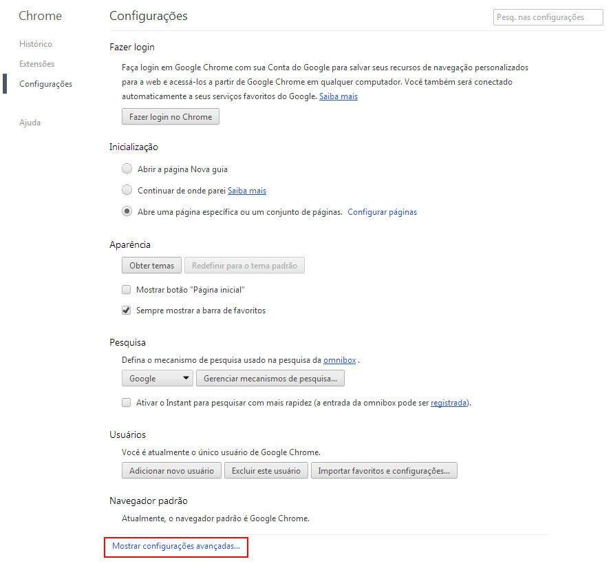 Como Limpar Cache do Google Chrome
